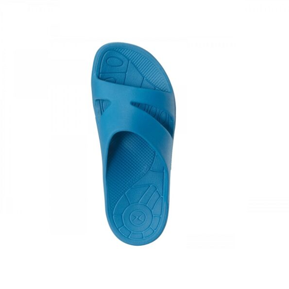 Дамски ортопедични чехли цвят син
