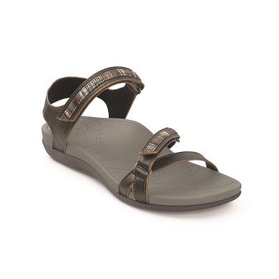 Дамски ортопедични сандали цвят сив