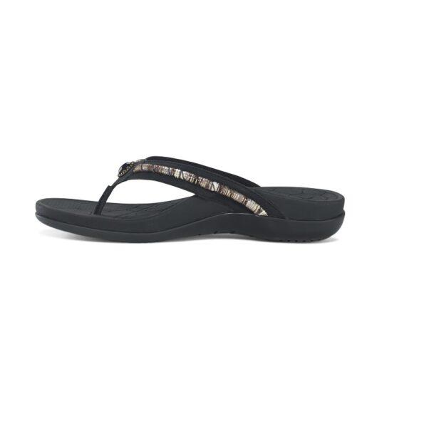 Дамски ортопедични чехли орнаменти цвят черен