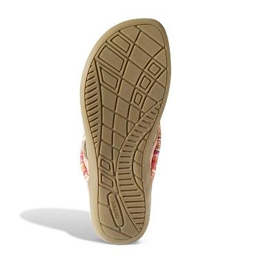 Дамски ортопедични чехли орнаменти цвят праскова