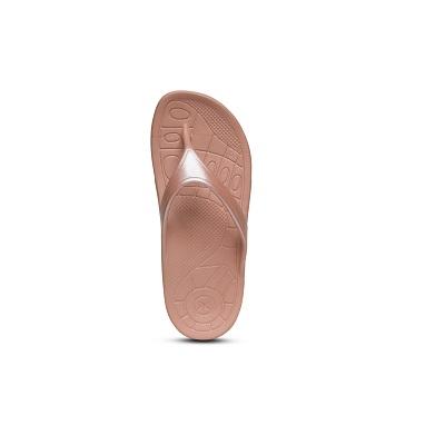 Дамски джапанки Lynco Slim Flip - цвят кафяв